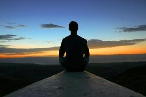 Yoga Sunrise Happy Peace Sky View Meditation