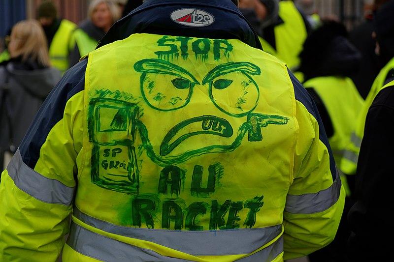 Manifestation du mouvement des gilets jaunes, à Belfort, le 01 décembre 2018.
